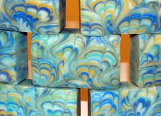 Orange Patchouli Marbled Soap