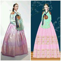 Korean Traditional Dress, Traditional Dresses, Dong Yi, Korean Hanbok, Korean Drama, Coloring Books, Women's Fashion, Costumes, Dolls