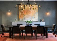 Love this dining room chandelier.