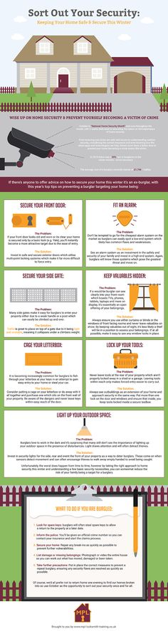 Keeping Your Home Safe and Secure This Winter #infographic #Home #Security