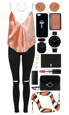 Untitled #888 by clary94 on Polyvore featuring polyvore Topshop Fleur du Mal Christian Louboutin Violeta by Mango Alexander McQueen Olivia Burton Luv Aj The Giving Keys Oliver Peoples MAC Cosmetics Elie Saab NARS Cosmetics fashion style clothing