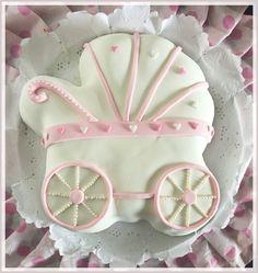 Baby shower cake Girl Stroller