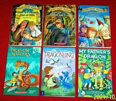 Dragon Lot 6 Chapter Books Dragon Slayer's Academy My Father's Dragonling Dragon Slayer, Chapter Books, Great Books, Father, Baseball Cards, History, Children, Pai, Young Children
