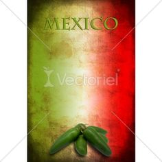 Photo : Mexican Flag With Jalapeno, by milacroft #313277 | Vectoriel.com