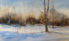 8:30 AM, Zeeland, Michigan by Sandy Strohschein Watercolor ~ 12 x 16