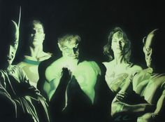 Alex Ross Justice League. I don't recall ever seeing this before. Incredible lighting...it looks waaay to realistic.