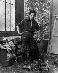 Jean-Paul Riopelle (Canadian: - Denise Colomb, Jean-Paul Riopelle in his atelier, Canadian Painters, Canadian Artists, Famous Artists, Great Artists, Male Artists, Monet, Painters Studio, Art Studios, Painting Techniques