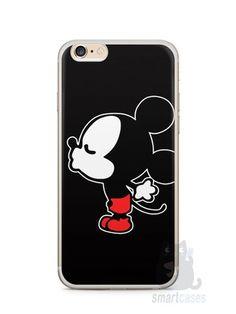 Capa Iphone 6/S Plus Mickey e Minnie Beijo