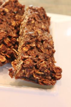 3 Minute Microwave Chocolate Peanut Butter & Oat Snack Bars