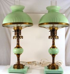 Two Victorian Table Lamps.
