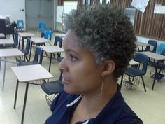 going grey and natural TWA - Google Search
