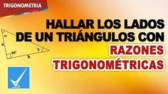 Hallar los lados de un triángulo con Razones Trigonométricas - 14