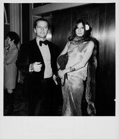 Jack Nicholson and Anjelica Huston at the Golden Globe Awards, January 1974.
