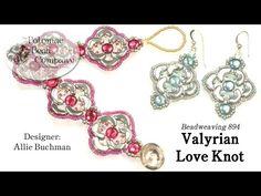 "** ""Valyrian Love Knot"" Bead Woven Jewelry Designed By Allie Buchman  @PotomacBeadCompany"