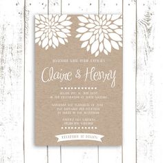 Wedding Invitation PRINTABLE  Faux Kraft by MooseberryPrintShop, $30.00