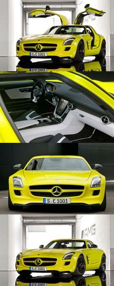SLS AMG E-Cell is quoted to have 519 horsepower, a 0-60 time of under 4 seconds. A whopping 649 lb-ft of torque