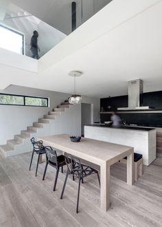 A Stacked Module House with a Perforated Facade-  Designed by Fernando Velasco and Paola Morales, of Mexico City-based multi-disciplinary studio AS/D asociación de diseño