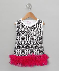 I LOVE this! So adorable!  The Princess and the Prince, Hot Pink Damask Dress  www.Zulily.com