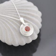 Birthstone Pendant, Sapphire Pendant, Sapphire Necklace, Topaz Earrings, Sapphire Gemstone, Sterling Silver Pendants, Sterling Silver Chains, Orange Sapphire