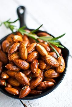 Almonds, sea salt, rosemary recipe Have a look at some more vegan recipes at yummspiration.com We are also on www.facebook.com/yummspiration Come and like us to keep up to date with all things vegan! #FF #F4F #tagforlikes