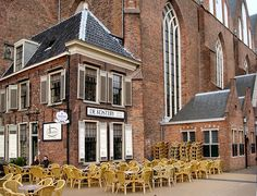 Two wait for Spring, Martinikerk, Groningen, The Netherlands - Had a 'kopje koffie' here many a time :-)
