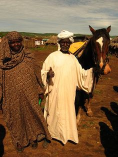 A happy little couple in Sudan