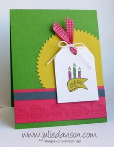 Stampin' Up! 2014 Occasions Catalog: Another Great Year Wish Big Card + Angled Tag Topper Punch
