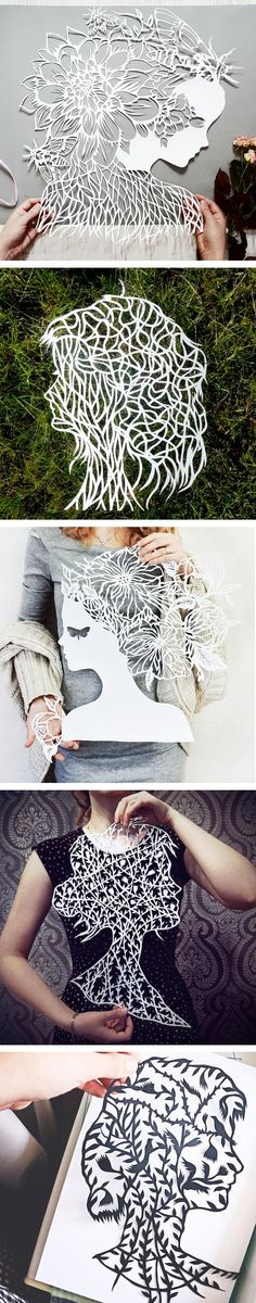 Eugenia Zoloto - Exquisite and intricate hand-cut Paper Portraits ♥≻★≺♥