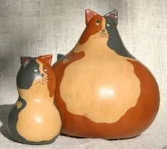 """""""Antiqued Folk Art gourds. Hand painted, Kentucky crafted. The perfect all-occasion gift. Gourds by GertsKid!"""""""