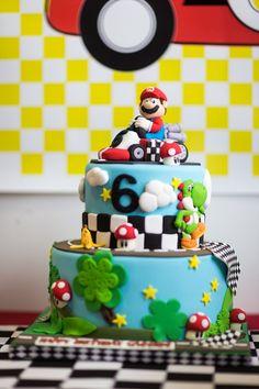 Mario Kart party cake