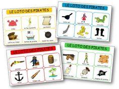 Le loto des pirates à imprimer. Loto pirate maternelle