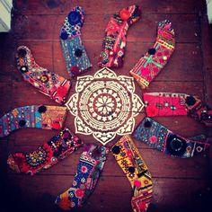 Vintage Bohemian Christmas Stockings, Hippie Christmas Stocking, Boho Tribal Stocking, Christmas Gift, Pom Pom Stocking