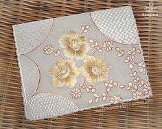 【Pergamano 纸蕾丝】Flower 金色花卡