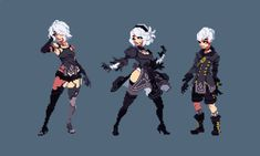 Anime Pixel Art, Art Anime, Nail Bat, Modele Pixel Art, Pixel Characters, Pix Art, 8 Bits, Pixel Animation, Pixel Art Games