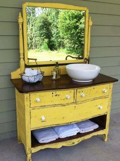 DIY Dresser to Vanity | The Owner-Builder Network #diydresserpainting