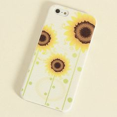 Sunflower Frosted Painting Phone Case For iPhone 4 ($19.40)