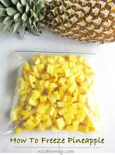 how to freeze pineapple  #pineapple #pineapplerecipe