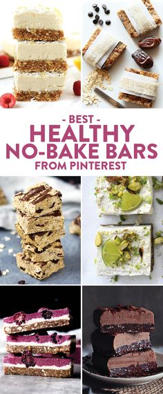 If you're like me, you don't like to use your oven when it gets hot outside. Keep your oven use to a minimum with The Best Healthy No-Bake Bars on Pinterest!