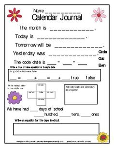 Calendar printable are a great addition to your morning calendar routine! Most of the time teachers are doing all the thinking and work during ca...