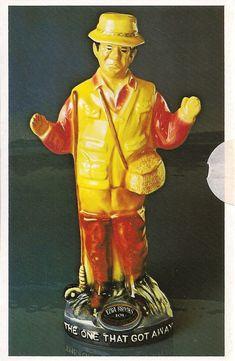 Ezra Brooks Bulldog Football Whiskey Decanter Postcard