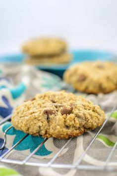 Using instant steel cut oats in your chocolate chip cookies results in a chewy yet crunchy oatmeal chocolate chip cookie that is oh-so-satisfying.