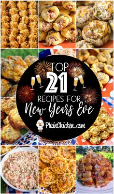 21 New Year's Eve Party Recipes - so many delicious recipes for your party! 21 New Year's Eve Party Recipes – so many delicious recipes for your party! New Years Eve Snacks, New Year's Snacks, New Year's Eve Appetizers, New Years Eve Dinner, Finger Food Appetizers, Appetizer Recipes, New Years Eve Party Ideas Food, Food For New Years Eve, Finger Foods For Parties
