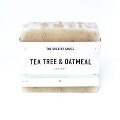 Tea Tree & Oatmeal Soap  Fragrance free, handmade in Brooklyn