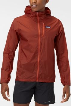 The Patagonia Men's Core Houdini Jacket is an ultra-light and protective layer, ideal for bringing along on your trail run when you fear the weather may be blustery. - Shop with Free Shipping and Free Returns at Running Warehouse! -  #run #runner #running #nike #justdoit #short #trail #outside #outdoors #mountain #gym #workout #training #health #fitness #best #top #newbalance #marathon #ultra #altra #hoka #ar'teryx #backcountry #hike #climb #camp Running Jacket, Running Gear, Mens Fall, Patagonia, Marathon, Warehouse, Hooded Jacket, Trail, Rain Jacket