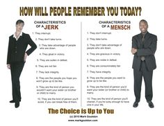 Are you a Jerk or a Mensch?