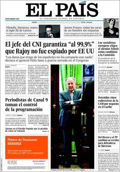 Los Titulares y Portadas de Noticias Destacadas Españolas del 7 de Noviembre de 2013 del Diario El País ¿Que le pareció esta Portada de este Diario Español?