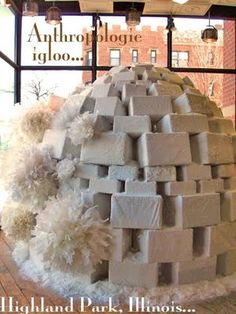 pièce de résistance! So badly want to make an lit igloo from discarded styrofoam packing (we have no shortage of this...)