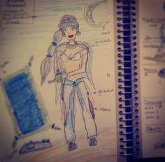 Eine neue #Skizze: Dieses mal für die #Jasmin Idee mit Simmy. #disdisney #aladdin #cosplay #shooting #märchen #projekt #wunderlandillusion