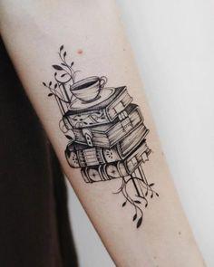 Trendy tattoos, girly tattoos, tattoos for lovers, book tattoo, tatoo Neue Tattoos, Body Art Tattoos, Tatoos, Bookish Tattoos, Literary Tattoos, Trendy Tattoos, Small Tattoos, Tattoos For Women, Girly Tattoos