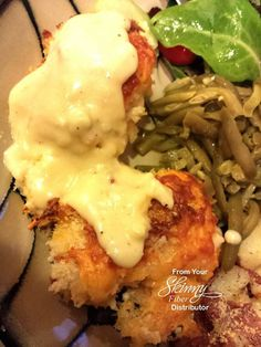 This serves 4 but can easily be doubled or even tripled for more servings!  Cheddar Baked Chicken  Ingredients... Chicken: 2 chicken breasts, cut ½ cup Panko bread crumbs ¼ tsp salt 1/8 tsp pepper ½ cup 2% milk 1 ½ cups shredded cheddar cheese  Sauce: 1 can (10 ¾ oz) cream of celery soup (You can use cream of chicken or mushroom, really just depends on your preference) 2 Tbsp sour cream 2 Tbsp butter 1/8 tsp pepper, to taste  Directions Preheat oven to 400° F. Spray a baking sheet with ...